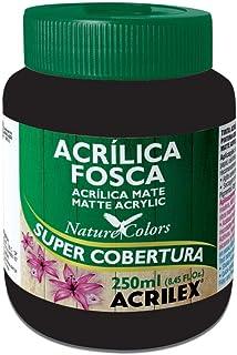 Tinta Acrílica Fosca Nature Colors 250ml Acrilex - Preto
