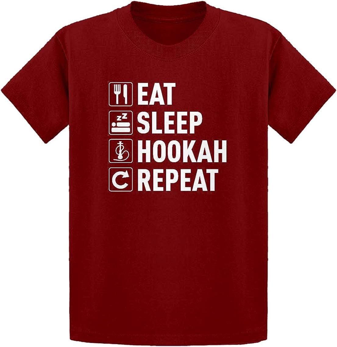 Youth Eat Sleep Hookah Youth M - (8-10) Red Kids T-Shirt