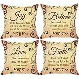 NIDITW Set of 4 Scripture Sayings Joy Love Faith Believe I Can Do...