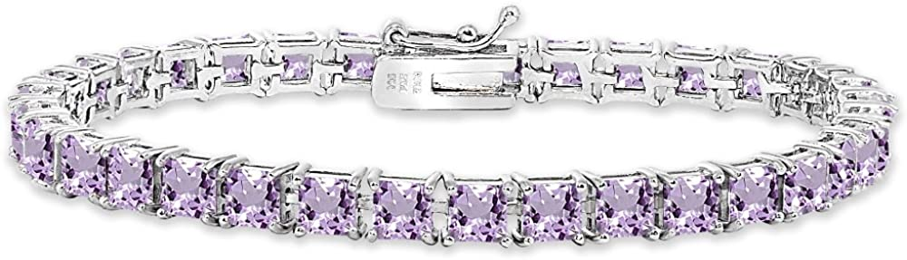 Sterling Silver Genuine Created Max 47% OFF or Princ 4mm OFFer Simulated Gemstone