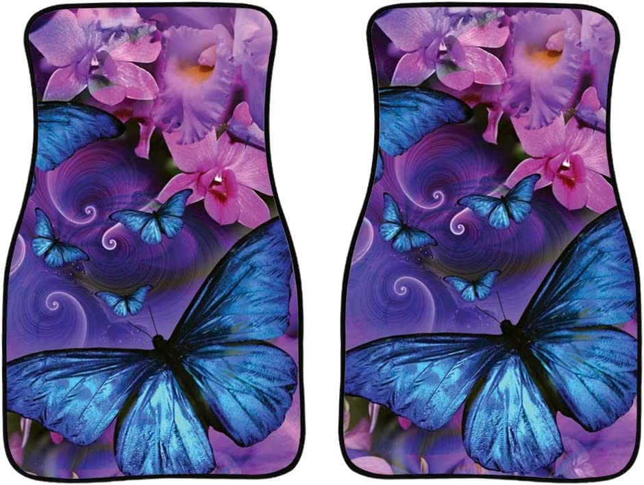 Factory outlet Boatee Purple Butterfly New York Mall Universal Car Set All Mats Weather Full