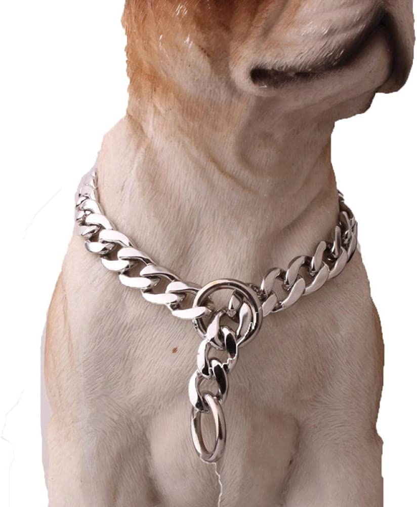 11mm Cuban Dog Los Angeles Mall Washington Mall Chain Stainless Steel Strong Meta Collar Gold