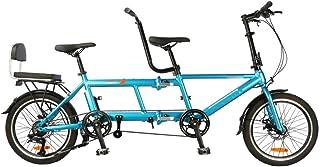 Ultralätt bärbar vikbar 20-tums tandemcykel, vikbara skivbromsresecyklar