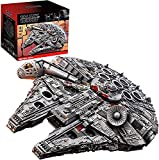 MOMAMO Technic Star Wars Millennium Falcon Modelo de Nave Estelar con Soporte de exhibición, 7528 Piezas Gran Juego de construcción de Nave Espacial Compatible con Lego
