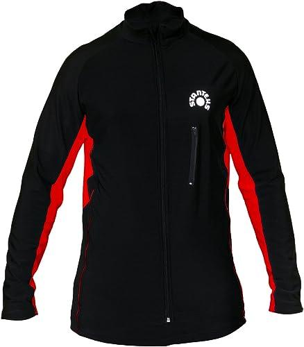 Stanteks hiver Maillot de cyclisme Noir Rouge Taille  L