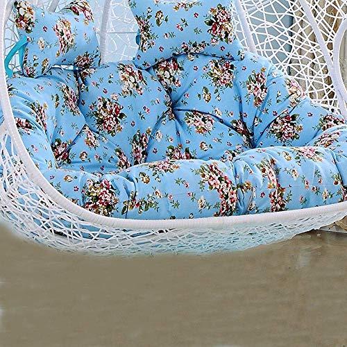 Yuany Dubbele verdikking swing mand kussen/opknoping ei schommel stoel kussen/opknoping rotan stoel schommelstoel kussen, verwijderbaar en wasbaar, 140x110cm, tuin tuin tuin vrije tijd mat (Kleur : B)