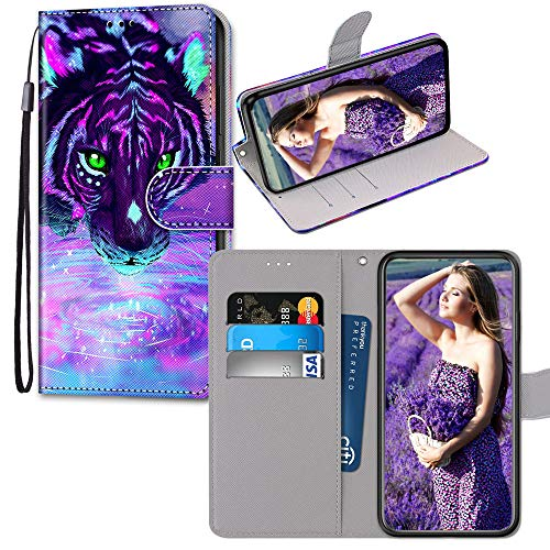 JZ Painted Wallet Custodia PU Leather Flip Cover for per Samsung A5 2016 - Magic Tiger