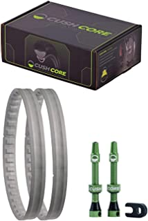 CushCore Tire Inserts (Set of 2), with Tubeless Air Valves, 27.5+