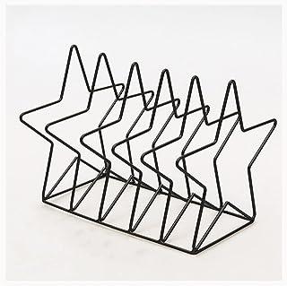 Nai-storage Estante de Libro único de Metal Simple, Soporte de decoración de Escritorio, Pentagrama para Oficina, hogar, S...