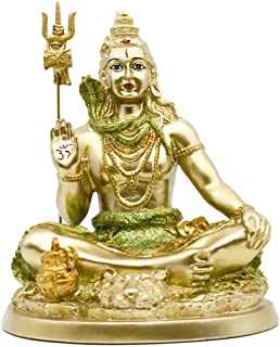 Hinduism Shiva in Lotus-Pose Statue - Indian God and Destroyer of Evil, Ignorance and Death Sculpture - Hindu Lord Temple ...