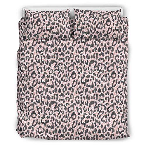 O2ECH-8 patroon luipaard sprei-sets Western Style 3-delig dekbedovertrek - luipaard lichtbestendig Bohemian beddengoedset