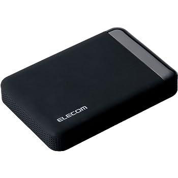 エレコム HDD ポータブルハードディスク 2TB USB3.0 テレビ録画対応 かんたん接続ガイド付き 静穏設計 SeeQVault ブラック ELP-QEN020UBK