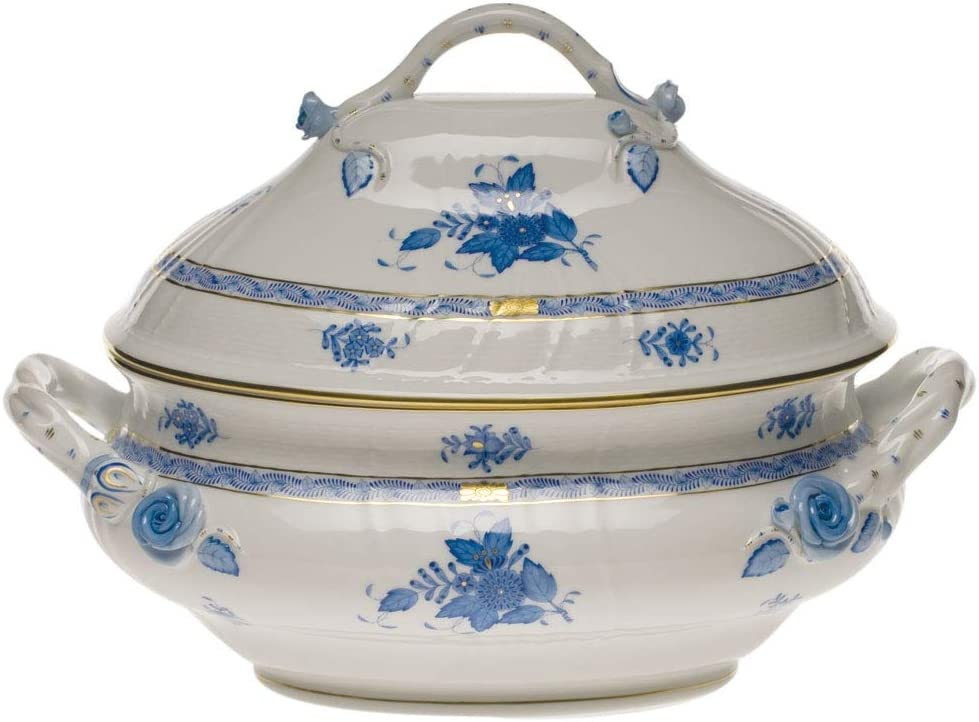 Herend Chinese Bouquet Blue Porcelain Branch Ranking TOP9 Tureen with Cash special price Handles