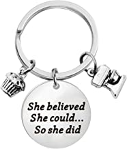 Lywjyb Birdgot Baker Gift Pastry Chef Graduation Gift She Believed She Could So She Did Keychain Baking Gift Culinary Student Gift