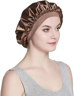 Satin Cap Single Layer Sleeping Hat for Long Hair Hair Bonnets for Women …