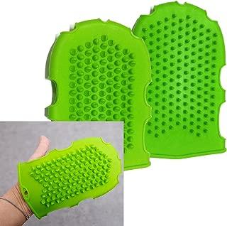 High Quality Silicone Massage Glove/cellulite Remover/increase Blood Circulation/ Brush Glove Scrub /Pink