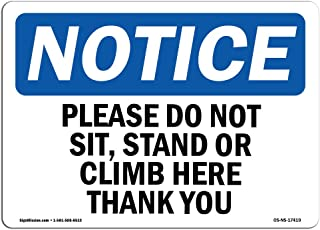 please don t sit here sign