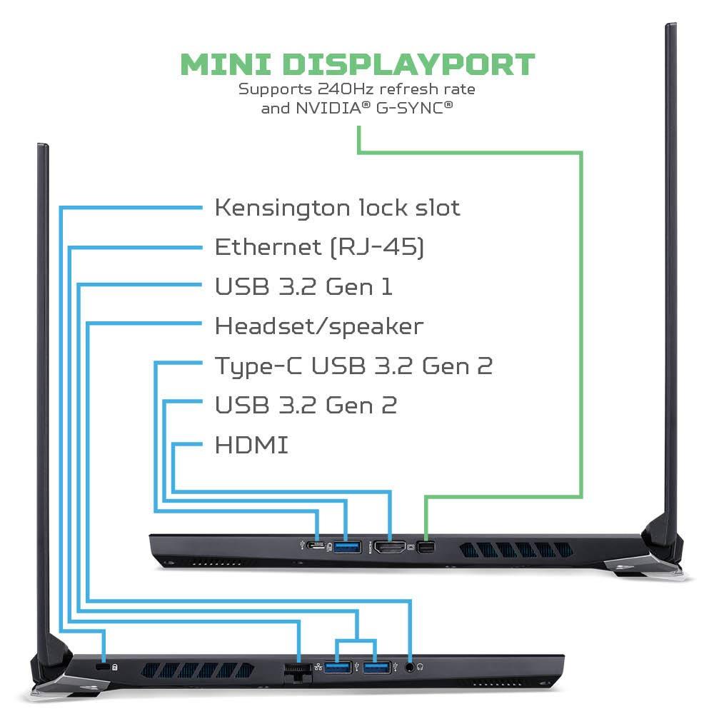 "Acer Predator Helios 300 Gaming Laptop, Intel i7-10750H, NVIDIA GeForce RTX 3060 Laptop GPU, 15.6"" Full HD 144Hz 3ms IPS Display, 16GB DDR4, 512GB NVMe SSD, WiFi 6, RGB Keyboard, PH315-53-71HN"