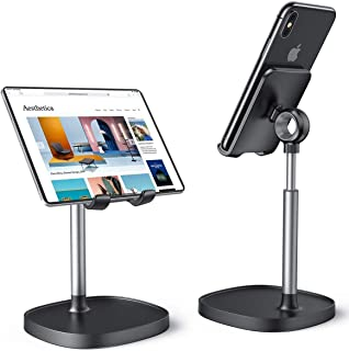 Cell Phone Stand, WORLDMOM Adjustable Phone Stand Holder for Desk, Compatible with Mobile Phone/iPad