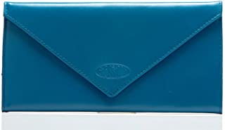 Big Skinny Women's Slimvelope Leather Tri-Fold Checkbook Slim Wallet, Holds Up to 40 Cards