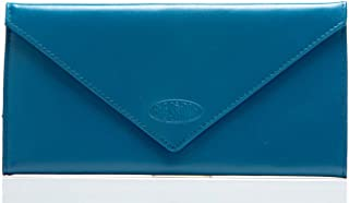 Women's Slimvelope Leather Tri-Fold Checkbook Slim Wallet, Holds Up to 40 Cards