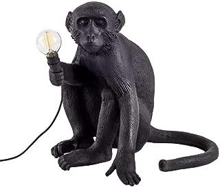 Acrylic Monkey Design Desk Lamp, 34 30 42cm (Color : Black)