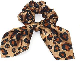 YJXUSHYQ Women Leopard Endoscope Hair Bands Bunny Hair Scrunchies Rabbit Printed Ponytail Holder Girls Haar Accessoires (C...