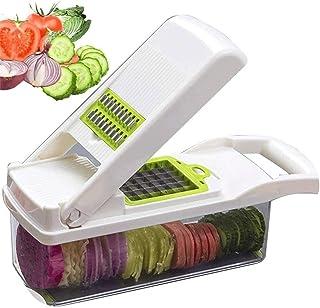 Trancheur de légumes à chopérateur de légumes, Cuisine S Trancheur avec récipient alimentaire et éplucheur, hélicoptère à ...