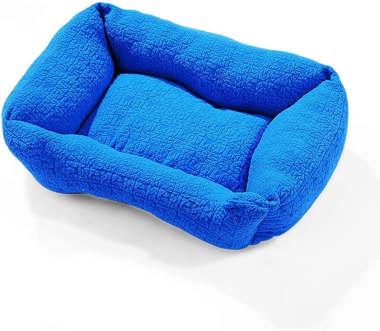 QUD Kensel, quattro stagioni stuoia universale per animali da compagnia grande media e piccoli cani caldi d'inverno pad nido canile (colore: Blue, Size: 70 * 90cm)