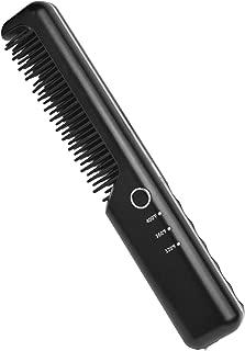 K-Salon Cordless Hair Straightener Brush and Heated Hair Comb, Rechargeable 4050mAh Battery Power Hair Straightener (Black)