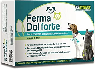 Compresse per Cani e Gatti FermaDol Forte - Aiuta a Ripristinare la Normale Funzionalità delle Articolazioni Contrastando ...