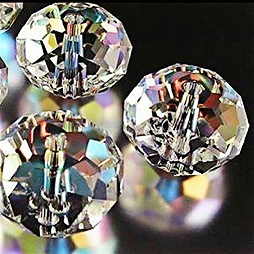 Bingcute Wholesale 5040# Quality Crystal Rondelle AB Beads Gemstone Loose Beads Choice 4mm 6mm 8mm 10mm 12mm