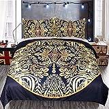 YUNSW Bronzing Digitaldruck Bettbezug Kissenbezug Bettwäsche Set Twin Voll Königin King Size Heimtextilien Eine 264x228 cm / 104x90in