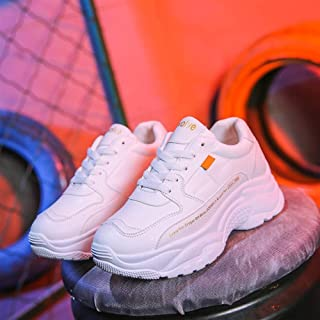 Sports Shoes Female Korean Version of The Korean Version of The Wild White Shoes Female Old Shoes Students Instant Noodles (Color : White, Size : 40)