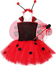 Ladybug Tutu Dress for Girls Halloween Birthday Party Outfit
