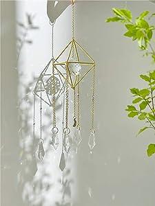 Handmade Gold Plated Sun Catcher, K9 Crystal 25MM, Crystal Sunshade, Prism Sunshade, Window Hanging, Home Decor, Crystal Window Decoration, Fairy Gift