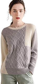 Autunno e Inverno Multicolor Puro Stile Cashmere retrò Modello di Moda Maglione a Manica Lunghe Donne e Maglieria a Maglia