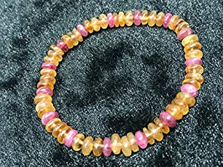 """7.5 inch strand natural multi tourmaline 7 mm rondelle smooth beads for jewelry - 7mm multi tourmaline smooth roundel beads. aaaa quality bracelet natural multi tourmaline length 7.5"""""""
