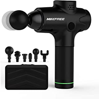 Maxfree Massage Device, Deep Tissue Massager Portable Muscle Massager Quiet 20 Speed Settings, Full-Body Relief for for Athletes, Physiotherapists (Black)