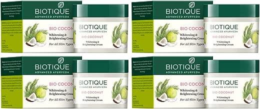 Biotique Bio Coconut Whitening & Brightening Cream - 50g (Pack of 4)
