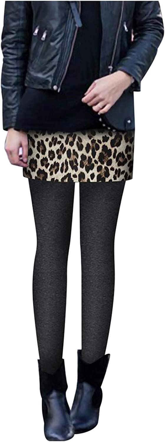 Frost`nai Womens Popularity Leggings with Leopard Skirt Warm Casual sale Winter
