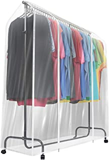 Sorbus Garment Rack Cover - 6 Ft Transparent Clothes Rail Cover, Garment Coat Hanger Protector Clothing Storage for Dresses, Suits, Coats, and More