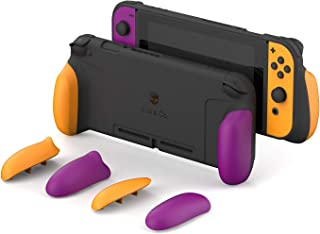Skull & Co. GripCase: A Dockable Protective Case with Replaceable Grips [to fit All Hands Sizes] for Nintendo Switch [No C...