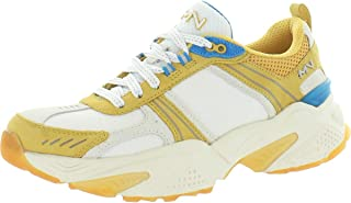 Mark Nason Women's Kraz - Mixin' It Sneaker, Yellow/White, 7.5
