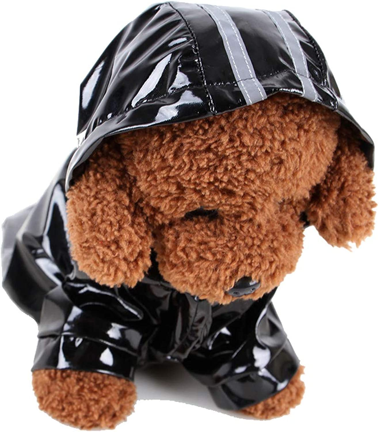 Pet Raincoat PU Rainwear for Little Dog Hoodie Jacket Waterproof Reflective Puppy Poncho