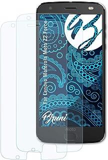Bruni Skärmskydd är kompatibel med Lenovo Motorola Moto Z2 Force Film, kristallklart Skyddsfilm (2X)