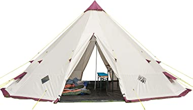 Skandika Waterproof Tipii Teepee Unisex Outdoor Camping Tent Available in Sand/Burgundy - 2 Persons