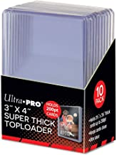 "Ultra Pro 3"" X 4"" Super Thick Toploader - Holds 200pt Cards (10 Count)"