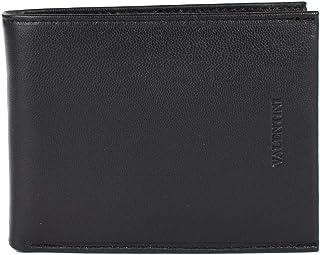 Portafoglio uomo Valentini in vera pelle Nero, sottile con tasca portamonete, porta documenti, due comparti banconote, 10 ...