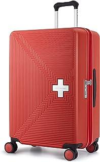 [スイスミリタリー] スーツケース タイプM ファスナータイプ 独バイエル社ポリカーボネート TSAロック ダブルキャスター 超軽量 傷防止 一年保証 [SWISS MILITARY]